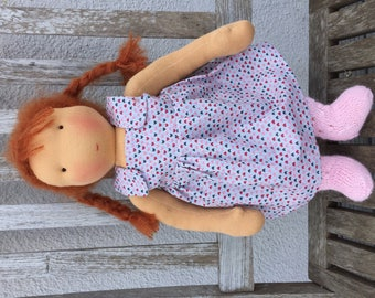 47cm waldorf style doll, handmade with eco-friendly material, unique piece