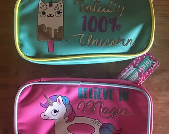 Target one spot unicorn pencil and pen holder. Planner supplies. Planner accessories. Pencil bag