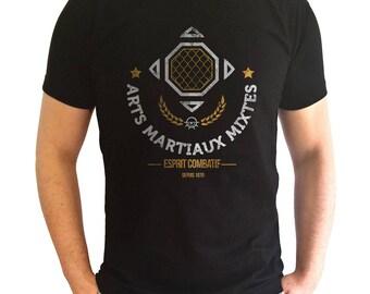 T-shirt black man - MMA classic design