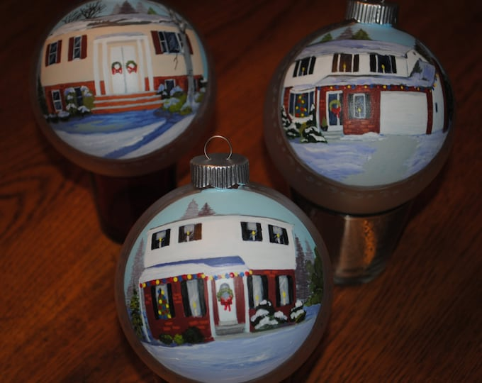 Samples of Custom Hand Painted Christmas Ornaments - sold