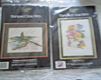 8 VINTAGE cross stitch kits VARIETY of designs