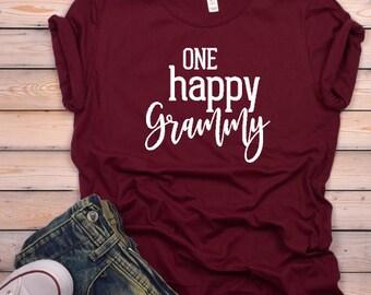 One Happy Grammy© | Grandma Shirt | Shirt for Grammy | Grammy Gift | Granny, Nana, Grammy, Mimi |  Grandma Shirt | Shirt for Grandma