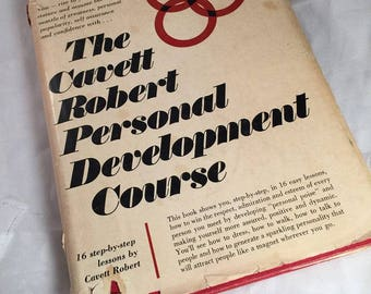 The Cavett Robert Personal Development Course Book 1966 First Edition Signed Motivational Speaking