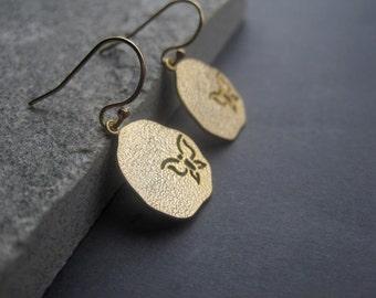 Butterfly Earrings  - Gold Butterfly Earrings - Gold Butterfly