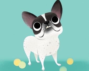 Pet Caricature Single / Pet Portrait / Custom Pet Portrait / Full Color Pet Caricature / Pet Cartoon / Pet Memorial / Pet Gift /Dog Portrait