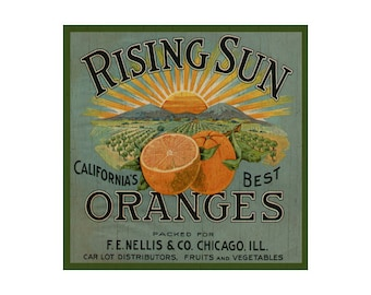 Fruit Plaque- Orange Sign
