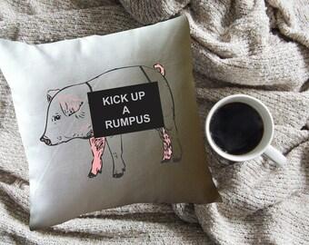Gilmore girls throw pillow cover, Petals pig, Kick up a rumpus