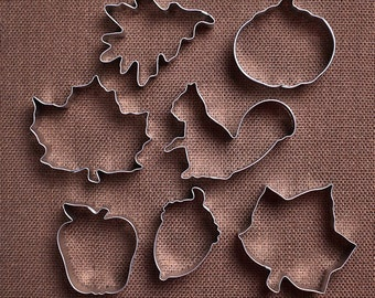 Fall Cookie Cutter Set, Thanksgiving Cookie Cutters, Autumn Cookie Cutters, Leaf Cookie Cutters, Acorn Cookie Cutter, Pumpkin Cookie Cutter