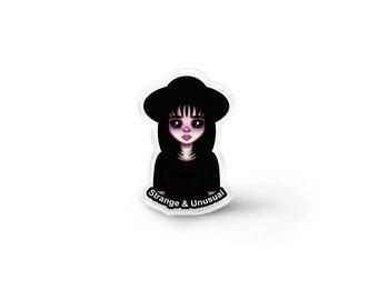 Strange and Unusual Lydia Lapel Pin - Aesthetic, Flair, Pastel Goth, Gothic Lolita, Creepy Cute, Movie Fanart