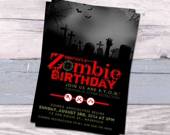 Zombie Birthday Invitation