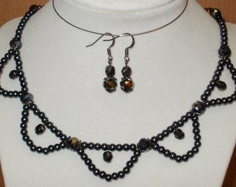 Dark Romance Necklace & Earrings Set