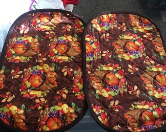 Quilted Cornucopia placemats (set of two)
