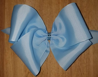 XL Light Blue Hair Bows