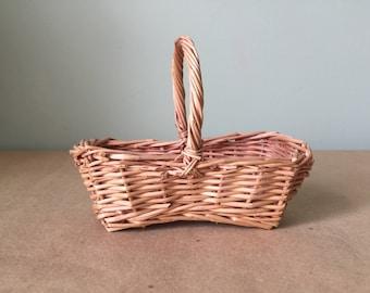 Miniature Rectangular Handled Basket Crafting