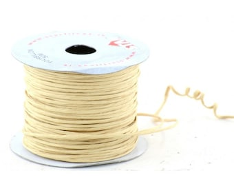 Paper Cord Ivory Wired Flexible Tourbillon Craft Cord 10 yards