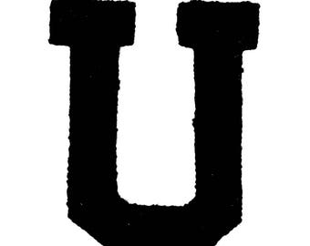 "Patch iron Terry ""U"""
