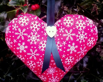 Christmas heart decoration, Holiday ornament, holiday decoration, Christmas ornament, Christmas decoration, cute heart, red heart