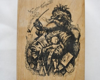Father Christmas Rubber Stamp /1997 Double D Rubber Stamps