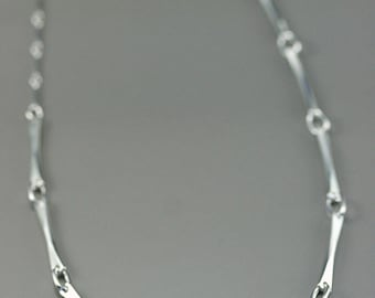 Minimalist chain, link bar chain, modern minimalist, handcrafted sterling silver chain, women chain, artisan jewelry, everyday necklace