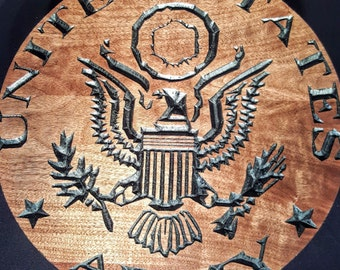 United States Army Plaque/ wall art / custom engraved wood Plaque