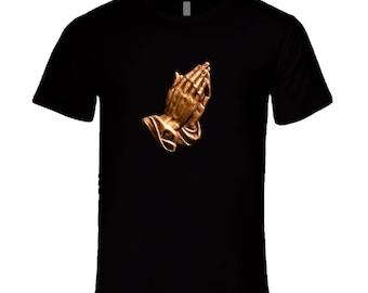 Praying Hands Gold T Shirt