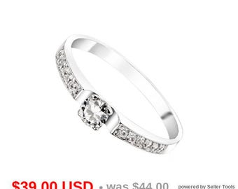 Stacking Engagement Ring Thin Promise Ring for Her Thin Engagement Ring Thin Wedding Band Dainty Wedding Ring CZ Delicate Ring Small Ring