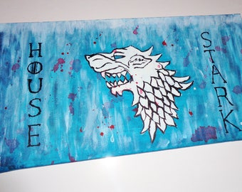 Game of Thrones Stark Wolf Painting