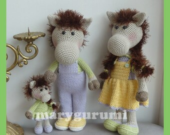 Amigurumi crochet plush horse