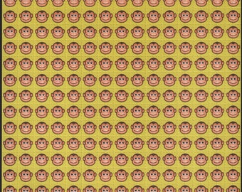 Monkey Faces Blotter Art