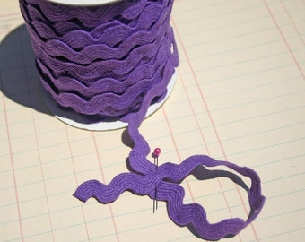 "Purple Rick Rack - Jumbo Cotton - Sewing Ric Rac Trim - 11/16"" Wide"