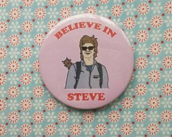 Steve Harrington Stranger Things button badge