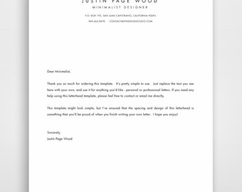 Printable Stationary, Business Letterhead, Stationary Template, Editable Stationary, Custom Letterhead, Letter Head, Printable Stationery