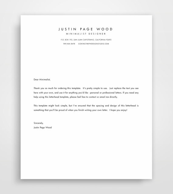 letter stationery printable stationary business letterhead stationary 23156 | il 570xN.892843303 1d6a