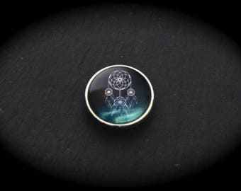 Pressure 18mm for jewelry fantasy cabochon - catches dreams blue