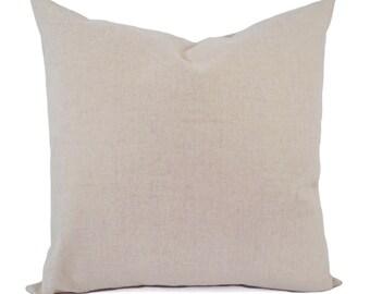 Cream Decorative Pillow Cover - Beige Pillow Cover - Linen Pillow Cover - Natural Linen Pillow - Custom Pillows - 16 x 16 Pillows 18 x 18