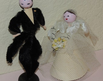 1940s Bride and Groom Cake Topper/Decorations