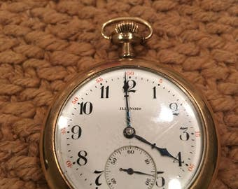 1030's Illinois 14s 17j pocket watch