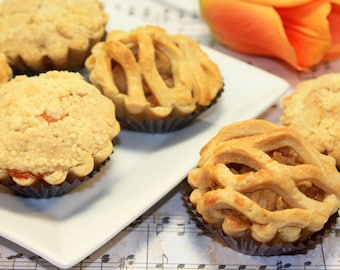 "Mini Pie, Gourmet fruit pie - 1 dozen of 3"" mini pies"