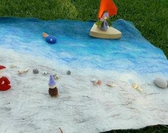 Beach felt waldorf playscape play mat