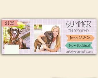 Summer Mini Session Template - Facebook Timeline Template - Facebook Timeline Covers - Facebook Cover - Instant Download