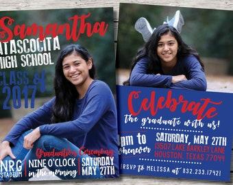 Customizable Graduation Announcement /// Party Invitation