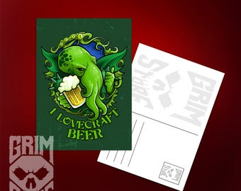 Postcard I Lovecraft Beer