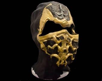mortal kombat scorpion mask halloween costume