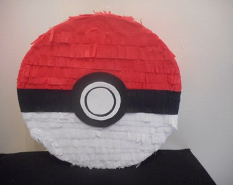 Pokeball Pokemon pull string Pinata 15x14x4