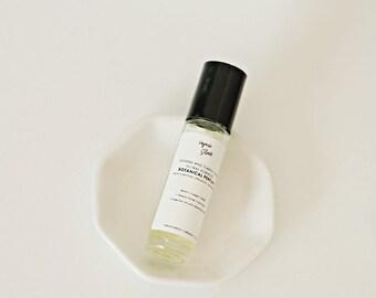 Jasmine and Ylang Ylang Floral Essences Botanical Perfume / ORGANIC / Sweet, Warm, Deeply Floral / Light Fragrance / Oil Roll On / 0.35 oz.