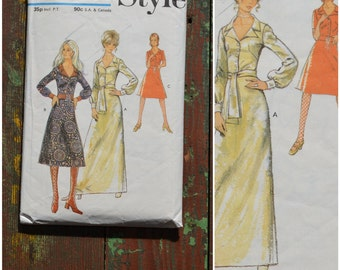Vintage 1970's Sewing Pattern, Style dressmaking Pattern 3181, Printed pattern Misses' Dress in three lengths, Bust 36