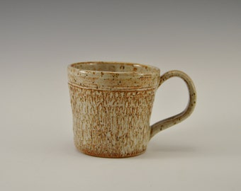 Stoneware coffee mug, pottery tea cup, handmade ceramic mug