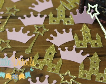 Princess Table Confetti. Crown Confetti. Princess Baby Shower.  Princess Birthday