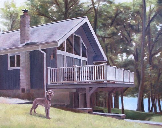 Custom HOUSE PAINTING - House Portrait - From your Photo - Oil Painting - Unique Gift