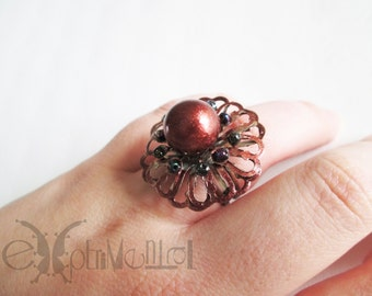 Flower of pearl - ring